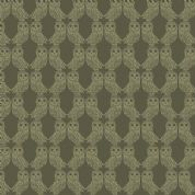 Lewis & Irene Enchanted Forest - 5100 - Owls in Forest Green  - A189.2 - Cotton Fabric